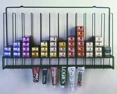 The tube color rack is a great way to organize your colors! Fo this and more fantastic salon equipment, visit Boss Beauty Supply online. Salon Color Bar, Salon Hair Color, Small Hair Salon, Home Hair Salons, Hair Salon Interior, Design Salon, Salon Interior Design, Small Salon Designs, Beauty Salon Decor