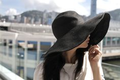 black hat, summer, spring, fashion