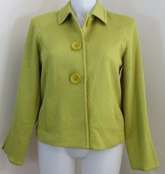 """600 WEST"" CHARTREUSE GREEN BLAZER FASHION JACKET - PLEASE SEE ALL PICTURES  