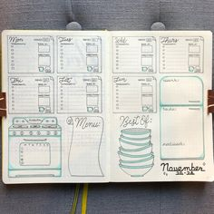 """2,569 Likes, 133 Comments - Nicole 🌸 (@bujo_blossoms) on Instagram: """"Prepped for Thanksgiving week! 👉🏻 (swipe for more) . Normally I don't prep for the following week…"""""""