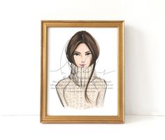 In for the Season Fashion Illustration Print by HNIllustration