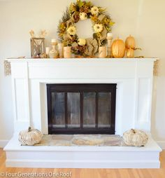 How To Update A Fireplace Surround {brass
