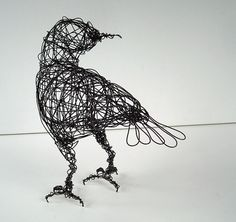 LOOK BACK - Crow Art - Original Handmade Wire Bird Sculpture on Etsy, £55.87