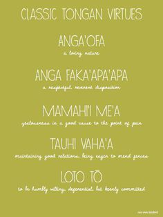 Lemons & Gold - Classic Tongan Virtues