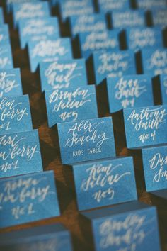 Fuse Wedding Events Details place cards