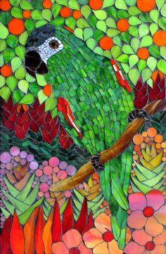 """Kasia Polkowska, """"Tuff Guy"""" mosaic macow"""