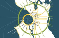 Nice Info Graphic Map by James Corner Field Operations (www.fieldoperations.net) for the Seattle Waterfront Parks Design