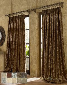 TUSCAN Castella Curtain Panel Available In 10 Colors