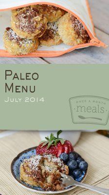 Paleo July 2014 Menu