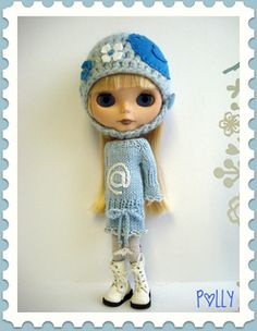 This is my own pattern that fits 12″ Blythe dolls.