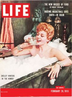 LIFE Magazine, February 28, 1955: Shelley Winters in 'The Women'