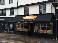 Trailfinders with their new Traditional Victorian shop blind, these blinds look stunning on any traditional building and in keeping with local High Streets. Take a look at the sign writing, even in today's digital age Deans Blinds And Awnings still have the skills to hand paint any name, font or logo and they really do look amazing. So if you need any help or advice for a Victorian Awning or Traditional Shop Blind then call us on 020-8947-8931