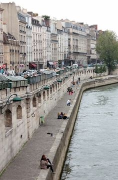 Quais de la Seine, Paris. Everytime I see a picture of the quais I think of A Moveable Feast, and Hemmingway is complaining that he doesn't have enough time to fish so he'll just watch the fishermen.