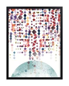 """Modern Spectrum"" - Art Print by Amy Moen in beautiful frame options and a variety of sizes."