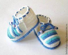 Для новорожденных, ручной работы. Ярмарка Мастеров - ручная работа Летние пинетки для новорожденных вязаные крючком | вязание | Постила