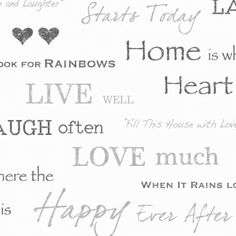 black and white quotes wall paper