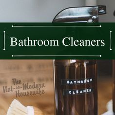 DIY cleaning solutions for keeping your bathroom clean. Clean your bathroom and kill germs naturally. Diy Cleaning Products, Cleaning Solutions, Bathroom Cleaners, Clean Clean, Modern, Trendy Tree
