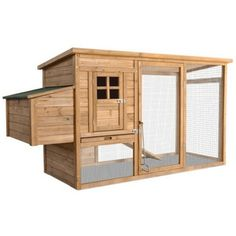 Chicken Coop, with Covered Run, Nesting Box and Slanted Roof Buying this pre-built may be cheaper than building our own.