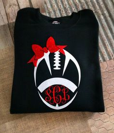 New sweatshirt vinyl monogram etsy 37 ideas Cheer Shirts, Cheerleading Shirts, Football Mom Shirts, Football Cheer, Team Shirts, Sports Shirts, Football Season, Vinyl Monogram, Monogram Shirts