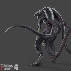 Alien Creatures, Dark Creatures, Mythical Creatures Art, Fantasy Creatures, Creature Concept Art, Creature Design, Monster Concept Art, Alien Concept Art, Monster Drawing