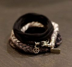 Snow Fall Zen Warrior Multi Wrap with hand woven by alccreations, $101.00