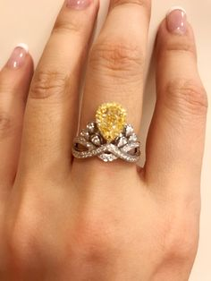 Chaumet vivid yellow diamond ring ! Stunning!!