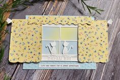 Open the Curtains featuring Spellbinders ... interactive, all die cut cards! Interactive Cards, Distress Oxide Ink, Black Card, Die Cut Cards, Tim Holtz, Die Cutting, Hello Everyone, Pattern Paper, Free Gifts