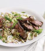 Spring Herbed Lamb w/Lemon Orzo - Perfect for a simple, tasty Easter meal.