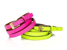Neon high waisted belts
