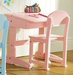Pink Desk and Chair Set