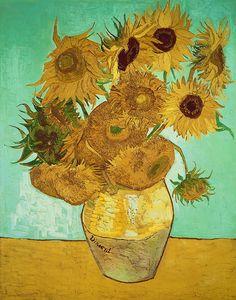 Vincent van Gogh Still Life - Vase with Twelve Sunflowers - Handmade Oil Painting Reproduction on Canvas Vase With Twelve Sunflowers, Van Gogh Sunflowers, Paper Sunflowers, Vincent Van Gogh, Van Gogh Museum, Gustav Klimt, Van Gogh Still Life, Van Gogh Arte, Van Gogh Pinturas