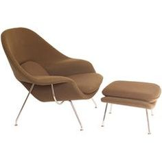 Eero Saarinen Womb Chair and Ottoman Produced by Knoll