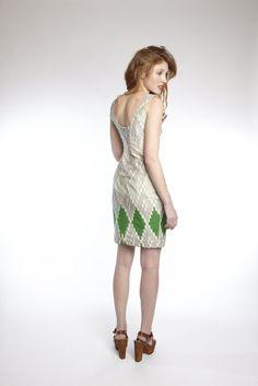Timeless Dress in Green Gradient ::AFIA::