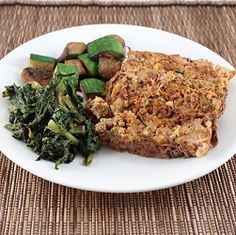 Egg and nightshade free meatloaf packed with veggies.