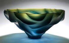 Joon Yong Kim   Blown, engraved and polished art-glass♥♥
