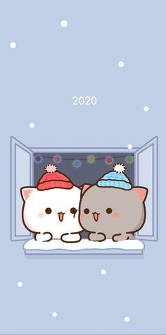 Little Panda, Cute Love Cartoons, Aesthetic Pastel Wallpaper, Animal Drawings, Mocha, Iphone Wallpaper, Hello Kitty, Kittens, Babe