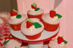 Strawberry Shortcake Party Cupcakes