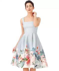 CITYGODDESS Dámské šaty Jarní vánek modré