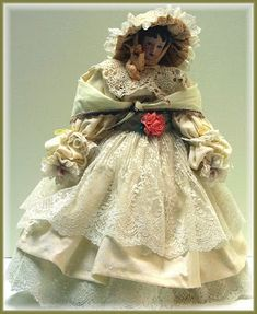 Linda Walsh Originals Dolls and Crafts Blog: Sweet, Sweet Julianna! Is Wearing Her 1863 Walking Dress - Victorian Lady Doll