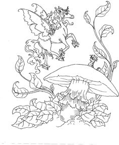unicorn faerie coloring pages - photo#43