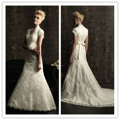 modest lace wedding gowns | Modest short sleeve lace wedding dress WDM484 - China wedding gowns ...