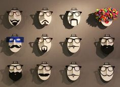 idea divertida para exponer gafas y otros complementos segun como las diseñes.