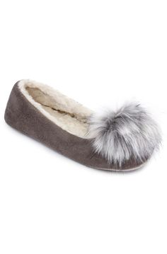 New Ruby /& Ed bobble knit ballerina slippers 3-8 grey