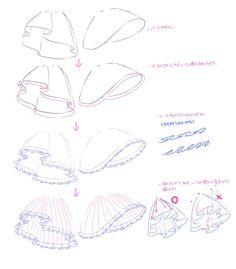 """紗倉シホ🍓4日目西【F-09a】委託 在 Twitter:""""レースの描き方です… """" Dessin My Little Pony, Drawing Anime Clothes, Anime Drawings Sketches, Pencil Drawings, Drawing Expressions, Digital Art Tutorial, Fashion Design Drawings, Drawing Reference Poses, Drawing Base"""