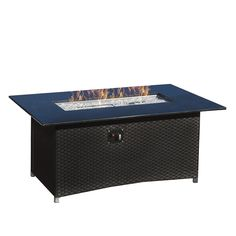 Rst Brands Sedona 58 In W 55,000 Btu Wicker Propane Gas Fire Table  Op Pecft5836 Sed K