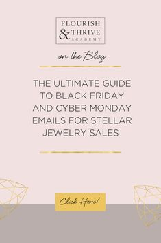Learn how to write Black Friday emails that make more sales for your jewelry design business with these seven marketing tips. Business Sales, Business Design, Business Tips, Sales Tips, Craft Show Ideas, Growing Your Business, Black Friday, Jewelry Design, How To Get