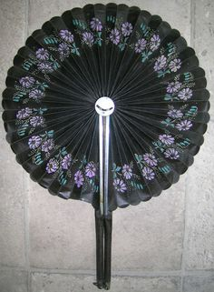 """Dated """"1881"""" Antique Victorian Hand Fan for Opera or Stage Plays Etc."""