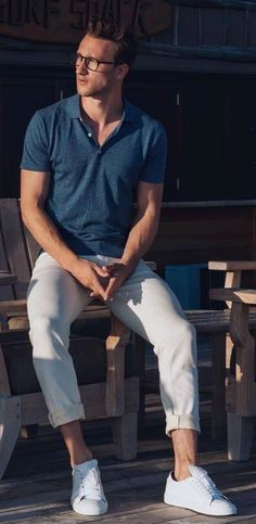 marcelfloruss - with a summer outfit idea with a blue polo short sleeve  shirt white 96c2dd8f35799