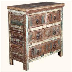 Appalachian Rustic Reclaimed Wood Distressed Dresser