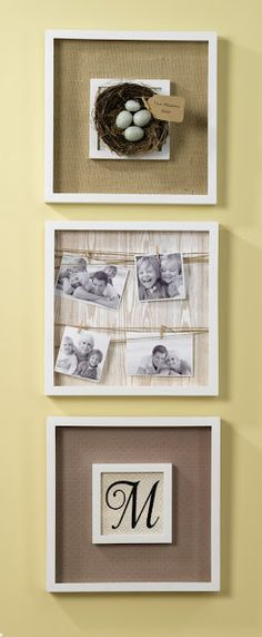Shadow Box Trio Wall Art for #CraftWarehouse